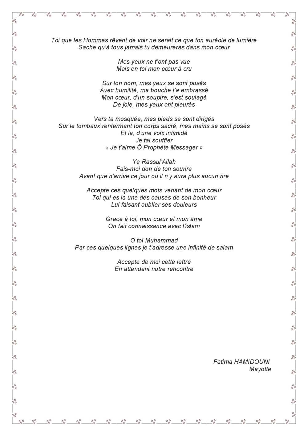lettre pour mon bien-aimé - Fatima Hamidouni_Part2